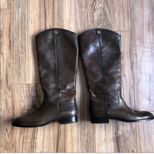 Frye Melissa Brown Leather Pull On Riding Boots 10